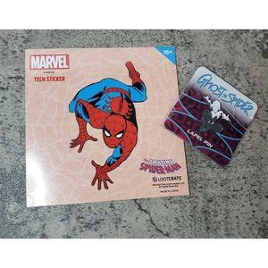 LOOT CRATE SpiderMan Tech Sticker/Ghost Spider Pin